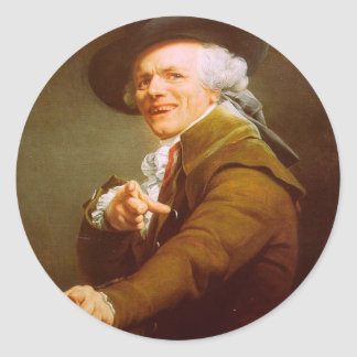 Joseph Ducreux Self Portrait Classic Round Sticker