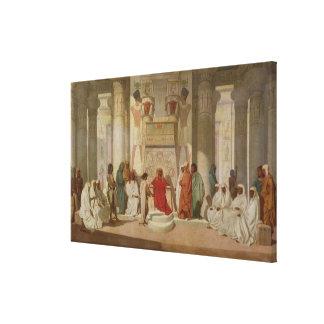 Joseph Explaining Pharaoh's Dreams Canvas Print