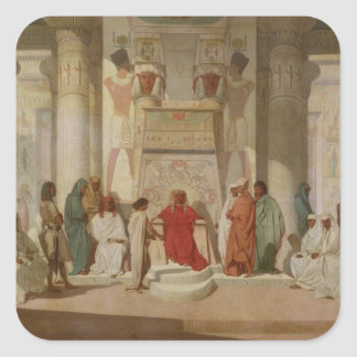 Joseph Explaining Pharaoh's Dreams Square Sticker