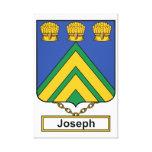 Joseph Family Crest Gallery Wrap Canvas
