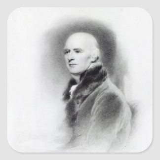 Joseph Farington, engraved by Richard Evans Square Sticker