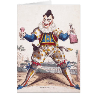 Joseph Grimaldi, Clown 1778–1837 Greeting Card
