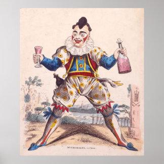 Joseph Grimaldi, Clown 1778–1837 Print