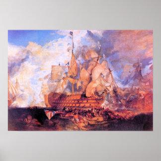 Joseph Mallord Turner - Battle of Trafalgar 2 Poster