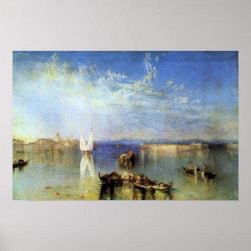 Joseph Mallord Turner - Campo Santo, Venice Poster