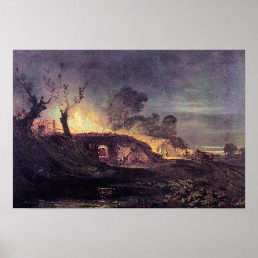 Joseph Mallord Turner - Coalbrookdale Poster