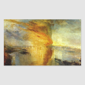 Joseph Mallord Turner - Fire at the Parliament bui Rectangular Sticker