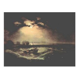Joseph Mallord Turner - Fisherman at sea Postcard