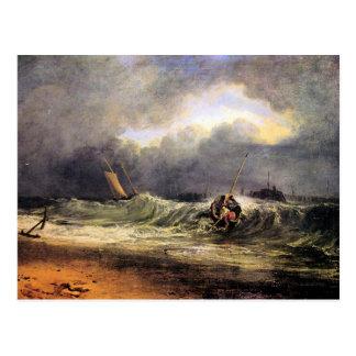 Joseph Mallord Turner - Fishermen in a squall Postcard