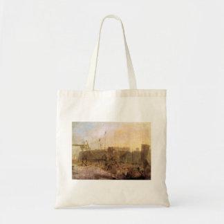 Joseph Mallord Turner - Margate setting sun Canvas Bag