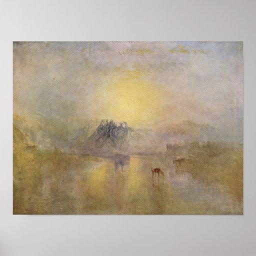 Joseph Mallord Turner - Norham Castle Poster
