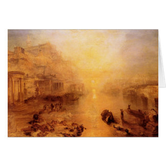 Joseph Mallord Turner - Old Italy - Ovid banished Card