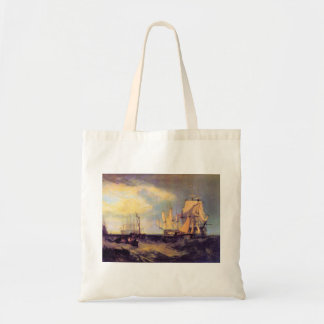 Joseph Mallord Turner - Recovering an anchor Canvas Bag