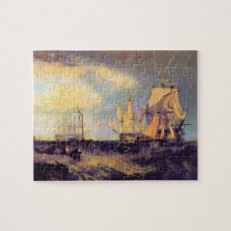 Joseph Mallord Turner - Recovering an anchor Jigsaw Puzzle