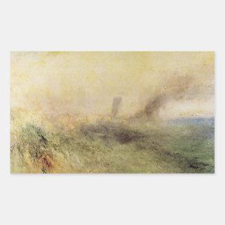 Joseph Mallord Turner - Seascape - Folkestone Rectangle Sticker