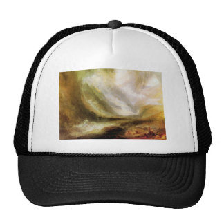 Joseph Mallord Turner - Snowstorm and avalanche Trucker Hat