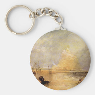 Joseph Mallord Turner - St Michaels Mount Cornwall Key Ring