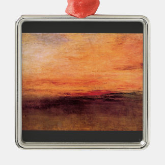 Joseph Mallord Turner - Sunset Christmas Ornament