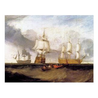 Joseph Mallord Turner - Victory in Trafalgar Postcard