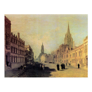 Joseph Mallord Turner - View the High Street Oxfor Postcard