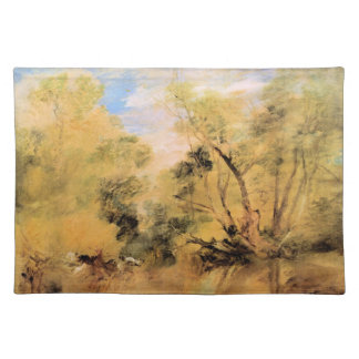 Joseph Mallord Turner - Willows beside a stream Placemats