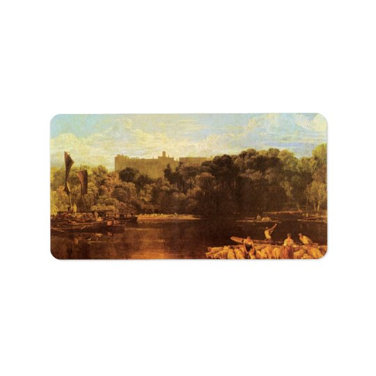 Joseph Mallord Turner - Windsor castle from the Th Label