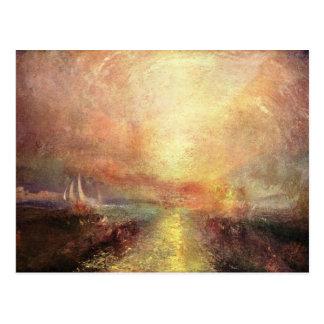 Joseph Mallord Turner - Yacht approaching the coas Postcard