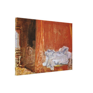 Joseph Mallord William Turner - A bedroom Stretched Canvas Print