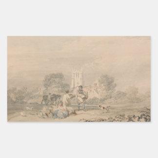 Joseph Mallord William Turner - Autumn Sowing Rectangular Sticker