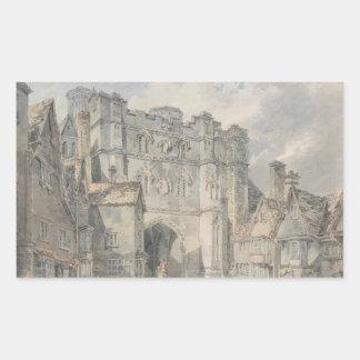 Joseph Mallord William Turner - Christ Church Gate Rectangular Sticker
