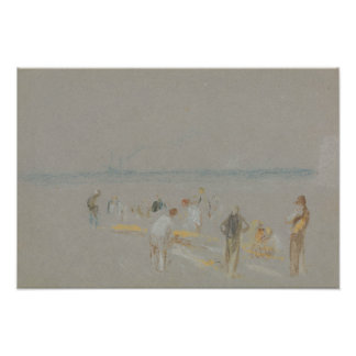 Joseph Mallord William Turner - Cricket on the Photo Print