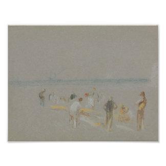 Joseph Mallord William Turner - Cricket on the Photographic Print