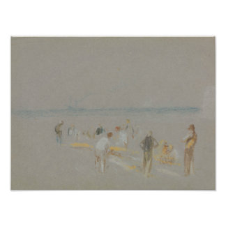 Joseph Mallord William Turner - Cricket on the Photographic Print