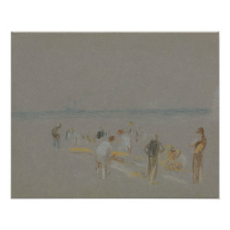 Joseph Mallord William Turner - Cricket on the Poster