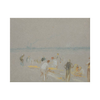 Joseph Mallord William Turner - Cricket on the Stretched Canvas Print