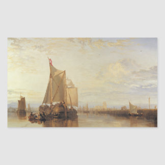 Joseph Mallord William Turner - Dort or Dordrecht Rectangular Sticker