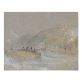 Joseph Mallord William Turner - Foul by God- River Art Photo