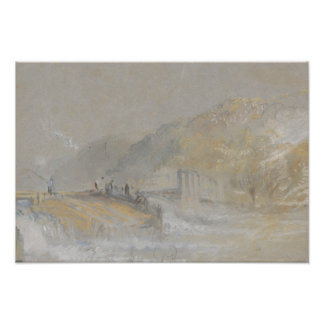 Joseph Mallord William Turner - Foul by God- River Photo Print