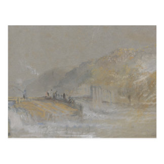Joseph Mallord William Turner - Foul by God- River Postcard