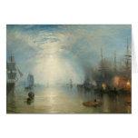 Joseph Mallord William Turner - Keelmen Heaving Greeting Card