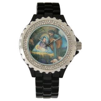 Joseph Mary Jesus Manger Wrist Watch