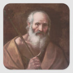 Joseph of Nazareth Square Stickers