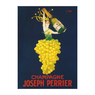 Joseph Perrier Champagne Promotional Poster Gallery Wrap Canvas