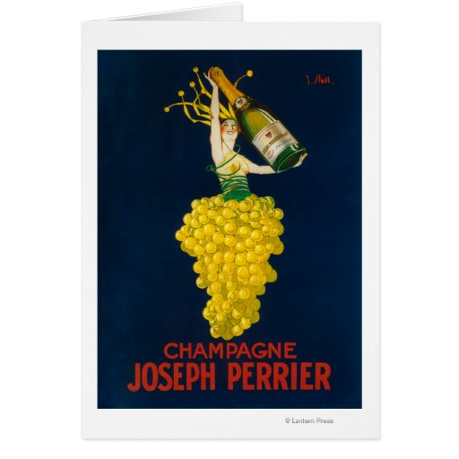 Joseph Perrier Champagne Promotional Poster Card
