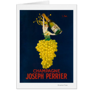 Joseph Perrier Champagne Promotional Poster Greeting Card