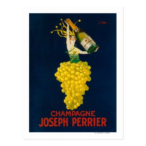 Joseph Perrier Champagne Promotional Poster Post Card
