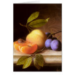 Joseph Peter Wilms - Peaches and Plums Greeting Card