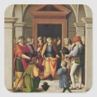 Joseph receives his Brothers, c. 1515 Square Sticker