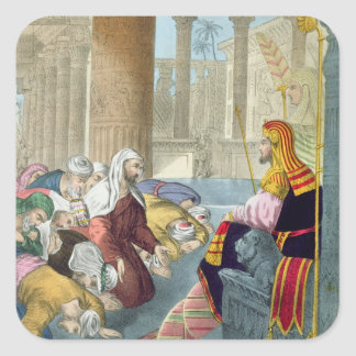 Joseph Receiving the Homage of his Brethren, from Square Sticker