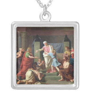 Joseph Recognised by his Brothers, 1789 Silver Plated Necklace